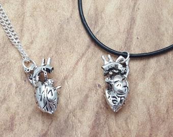 Anatomical Heart Necklace, Human Heart Necklace, Heart Jewellery, Goth Jewelry, Gothic Necklace, Anatomical Jewellery, Alternative Fashion