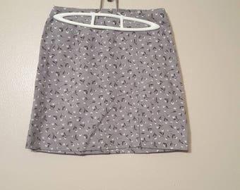 Gray Flower skirt