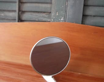 Vintage Car Mirror, Swivels, Chrome, Round, 1950s Side Mirror,    Great Shaving Mirror for a Retro Bathroom, 1955-1957 Chevy, Easy Mountable