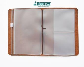 Zipper pocket for your passport traveler's notebook - zipper case -