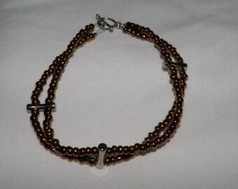 Bronze Double Strand Bracelet