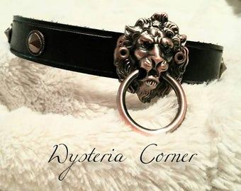 BDSM Lion Head O-ring Collar