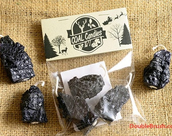 Lump of Coal Black Beeswax Candles Rock Coal Candles Stocking Stuffer Naughty or Nice Christmas Party Favors Coal Gift  Cool Christmas List