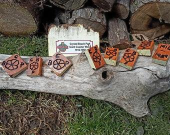 Crystal Beach wood Pendant
