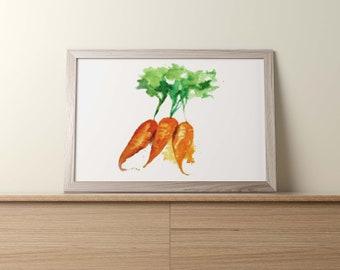 CARROT watercolor/CARROT watercolor portrait/CARROT watercolor clipart/Carrot watercolor painting/Carrot watercolor art