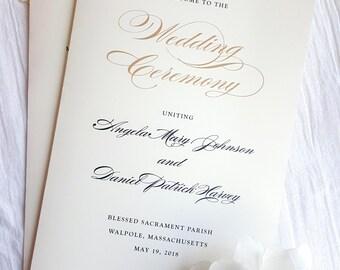 Wedding Programs     wedding programs     ceremony program     programs - Style 06 - GRACEFUL COLLECTION