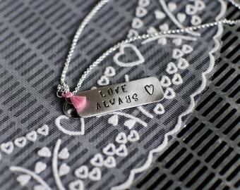Love Always Necklace   Silver Necklace   Handmade Necklace   Unique Necklace   Rustic Necklace   Gifts For Women