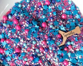 Sprinkle Mix, Sprinkles, Edible Sprinkles, Princess Sprinkles, Star Sprinkles, Pretty Sprinkles, Birthday Sprinkles, Mermaid Sprinkles 2.5oz