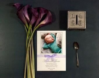 Letterpress Birth Announcement   Letterpress Adoption Announcement   Photo Birth Announcement   Medium Announcement