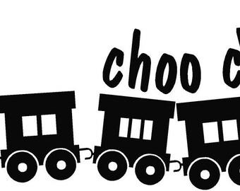choo choo train vinyl decal/sticker