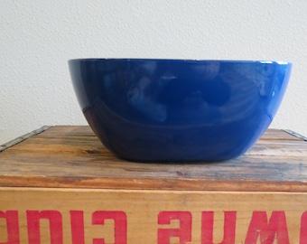 SALE - Vintage Catherinholm Large Cobalt Blue Square Cathrineholm Grete Pritz Kittelsen Enamel Bowl - WAS 40