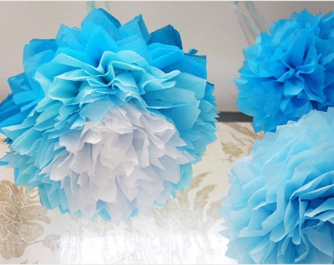 Ombre Tissue Paper Poms 14 Inch