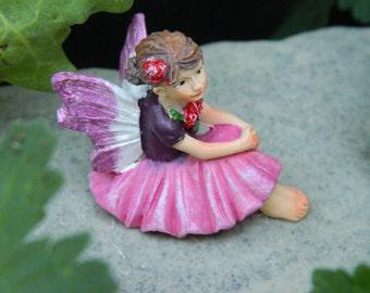 Fairy Garden Accessories Small Fairy Miniature Garden Fairy Figurine Small Pink fairy
