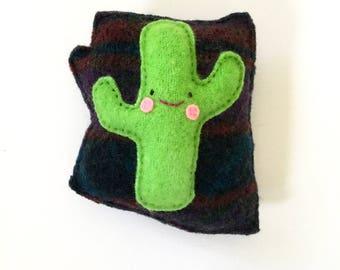 Arizona State Saguaro Cactus - Recycled Wool Plush Toy