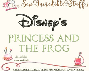 Princess & The Frog  Machine Embroidery Font