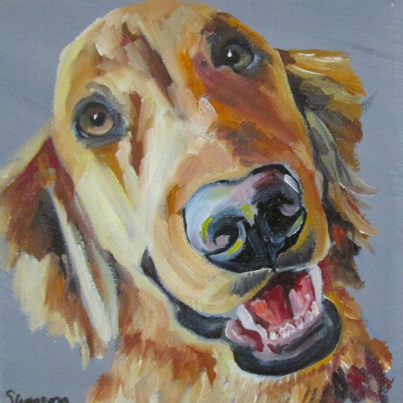 """Oil Painting portrait of any pet Original 6""""x6"""" on canvas"""
