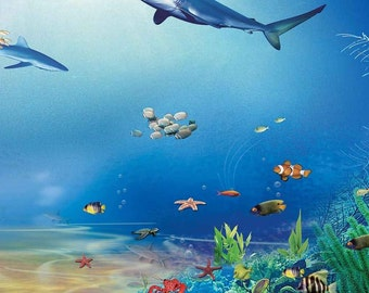 Underwater World 10ft x 10ft Backdrop Computer Printed Photography Background XLX-880