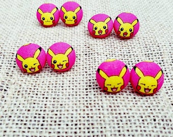 Pokemon Earrings/Pokemon Jewelry/Pokeball Earrings/Pokeball Jewelry/Pikachu Earring/Pikachu Jewelry/Anime Jewelry/Pokemon Pin/Pokemon Button