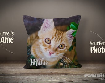 Custom Pet Pillow - Personalized Cat Pillow - Custom Cat Pillow - Custom Pet Pillow - Personalized Pillow - Cushion - Cat Pillow cover