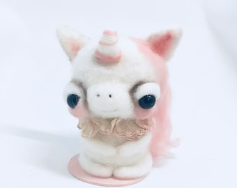 Perry the pink   unicorn Original one of a kind art doll