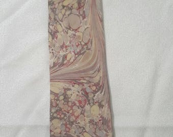 Carefully handmade  Ebru art printed 100% woven silk premium Tie