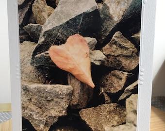 Heart Shaped Leaf Card