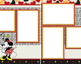 Mickey's Seranade - Digital Scrapbooking Quick Pages - INSTANT DOWNLOAD