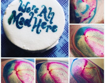Sale! We're all mad here shea butter rich bath bomb... 4.5 oz