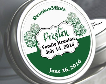 12 Family Reunion Mint Tins - Family Reunion - Family Tree - Reunion Favors - Family Reunion Decor - Family Reunion Party Favors