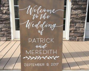 Wood Wedding Welcome Sign | Wedding Decor | Hand Painted Wedding Signs | Rustic Wedding