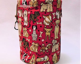 XL Knit Sack in Red Doggie Bag