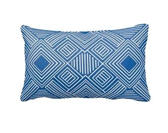 Outdoor Pillow Cover Decorative Pillows Lumbar Pillow Cover Cobalt Blue Pillow Cover Blue Throw Pillows Decorative Pillow Accent Pillows
