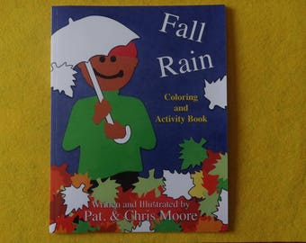 Fall Rain Coloring and Activity Book / Signed Copy