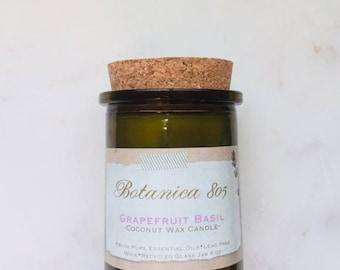 Grapefruit Basil Coconut Wax Candle| 6 oz