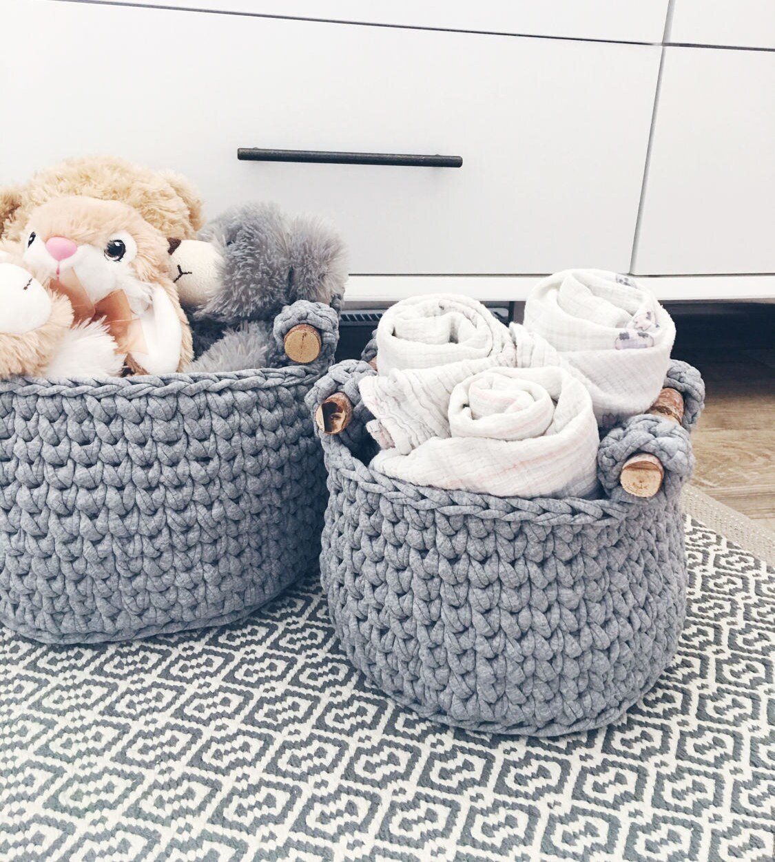 crochet basket pattern / crochet storage basket / home decor crochet ...