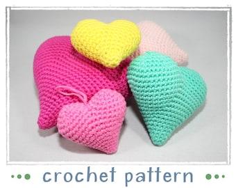 Coeur - crochet - crochet motif