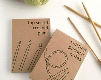 Personalised Crochet Notebook / Knitting Notebook / Personalised Notebook Jotter Notepad for Knitter / Notebook for Crocheter