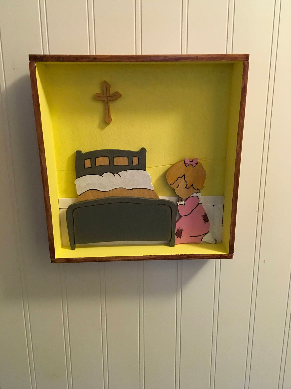 Shadow Box of a little girl praying