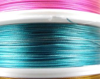 Reel 100 m wire 0.38 mm blue green