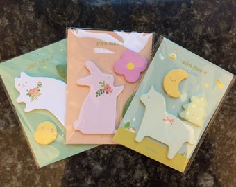 Animal memo,Rabbit memo,Cat memo,Horse memo,memo sticker,sticky notes,post-its,stationery,memo pad