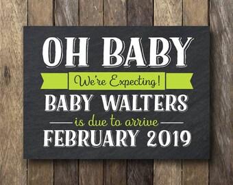 We're Expecting Pregnancy Announcement - Printable Announcement Prop