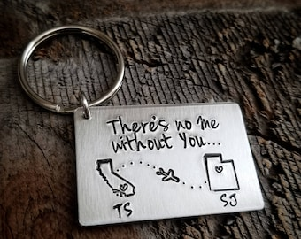 Anniversary Gifts for Boyfriend, Couple Keychains, 1 Year Anniversary Gift for Him, Puzzle Piece Keychains, Personalized Keychains