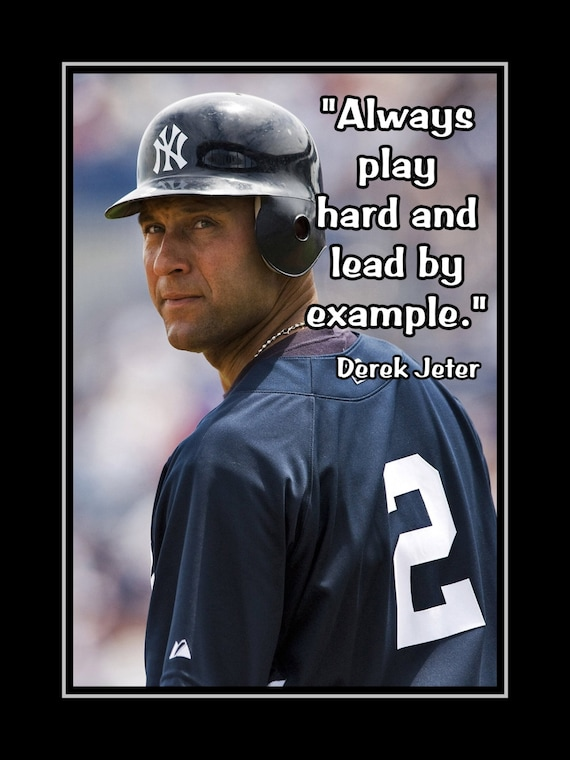 Baseball Motivation Poster Inspirational Quote Wall Art