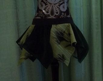 Velvet & Floral Pixie Skirt