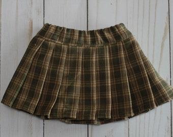 American Girl Doll Plaid Pleated Skirt