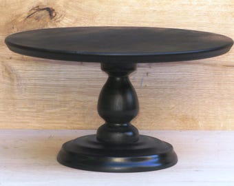 Custom Black Cake Stand, Durable and Stable Black cake stand, Wedding, Bridal, Birthday Gold Wedding Cake Display for a Large Beautiful Cake