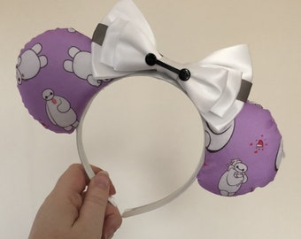 Baymax (Big Hero 6) inspired Mickey/Minnie Disney ears