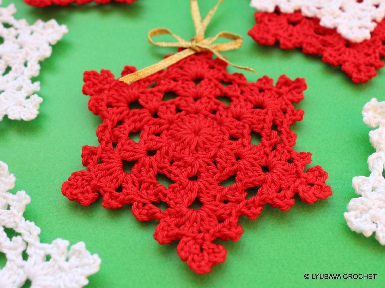 Christmas Crochet Pattern Crochet Snowflake PATTERN