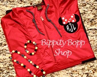 Disney Packable Rain Jacket/Coat EMBROIDERED w/Monogram Adult