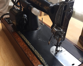 Vintage singer sewing machine - raf circa 1938